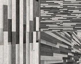 3D Wall long brick clinker n1