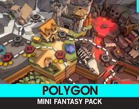 3D model VR / AR ready POLYGON MINI - Fantasy Pack