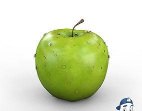 Green Apple 3D model PBR