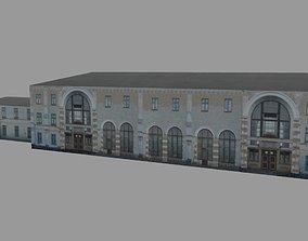 3D model Train station Bus terminal