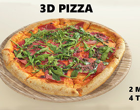 Pizza 3D model VR / AR ready cheese