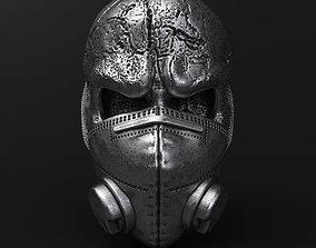 3D print model Skull with mask vol2 Pendant