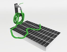 Garden hose with tap 3D