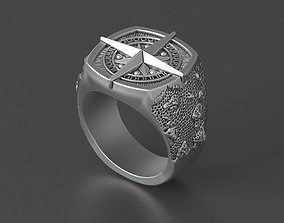 steel mens ring brutal bikers 3D print model