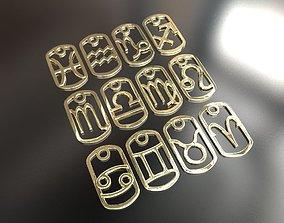 3d Printable Zodiac signs Pendants