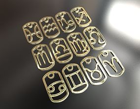 3d Printable Zodiac signs Pendants