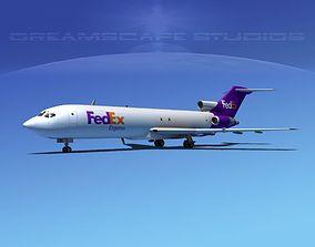 3D model Boeing 727-200 FedEx 2