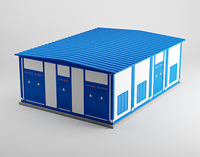 3D model electricity electrical substation