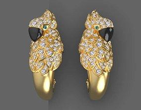 earrings parrot 3D printable model