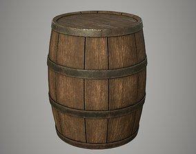 3D asset PBR Wooden Barrel