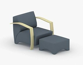 3D model game-ready 1044 - Armchair