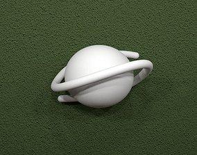 Sega Saturn Logo 3D printable model