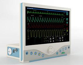 3D model ECG Monitor GE Omni 719