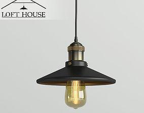 LOFT HOUSE lamp 3D model rigged