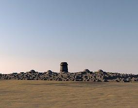 3D model game-ready Arab-style city