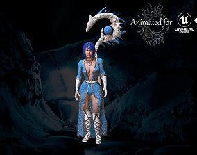 Wizard Girl 3D asset