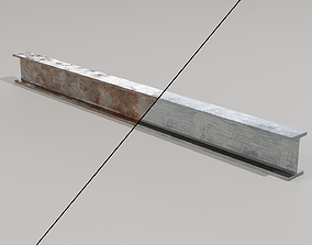 rust Metal Girder - Low-Poly PBR 3D model