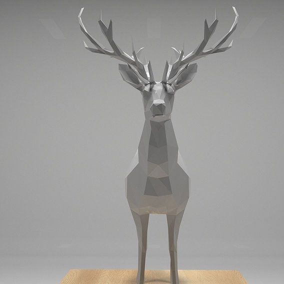 Low Polygon Deer