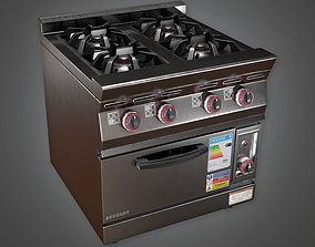 3D model Kitchen Gas Oven 01 KTC - PBR Game Ready