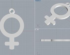 3D print model Woman symbol