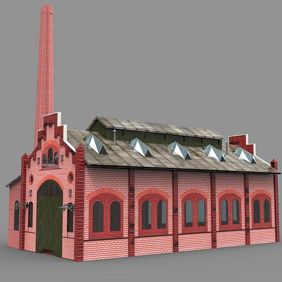 Industrial factory building