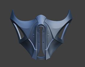 3D print model Frost Sub Zero cyberpunk female mask from 2