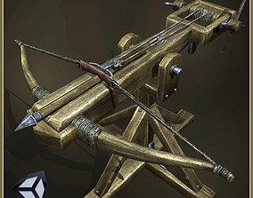 3D asset game-ready Animated Medieval Ballista