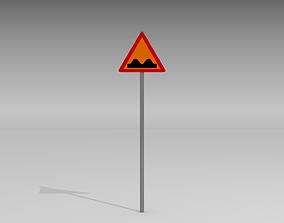 Speed bumps sign 3D