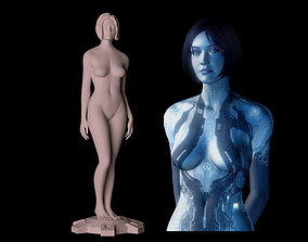Halo 4 Cortana Download 3D print files statue figure 1