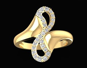 1687 Curve Ring 3D printable model