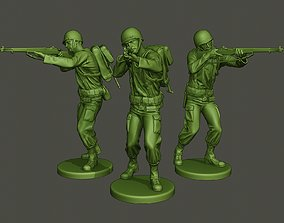 American soldier ww2 Shoot Stand 3D print model