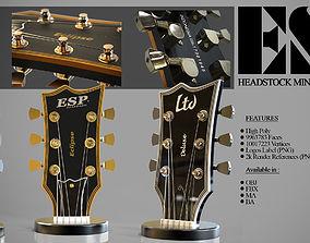 3D ESP Guitar Headstock Miniatures