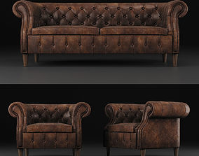 Chair and sofa Chelsea 3D