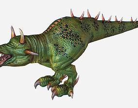 Game MMO RPG Character Green Lizard Dragon 3D model