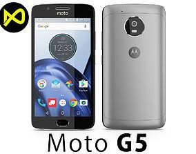 3D model Motorola Moto G5 Space Gray
