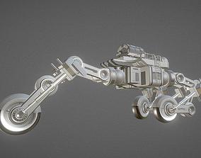 Futuristic Trike High Poly Version 4 3D