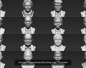 Famous Politicians busts 3D printing ready