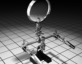 3D asset low-poly PBR Magnifying glass