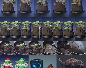 Set D - Baby Yoda - Fan Art 3D