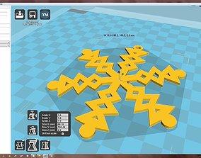 3D print model Snowflake accessories