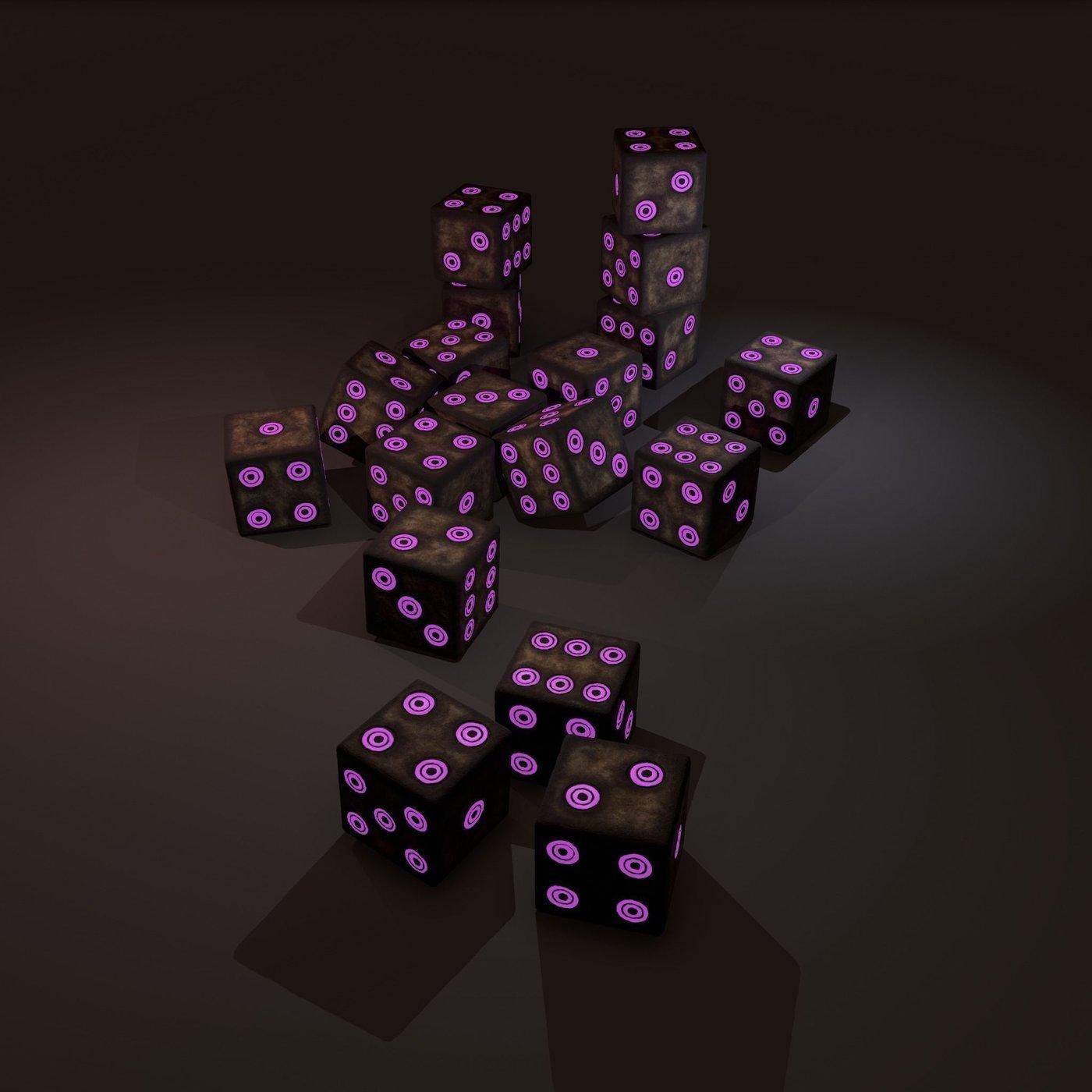 Dice purple