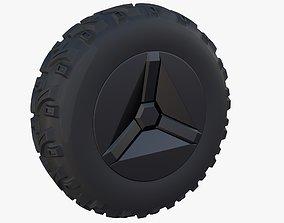 3D Tesla Cyberquad ATV Wheel 1