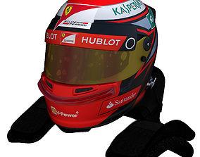 Raikkonen Helmet 2016 3D model