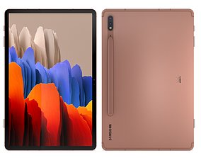 3D Samsung Galaxy Tab S7 Mystic Bronze