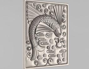 3D printable model cnc Carved panels