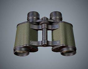 Binoculars 3D model game-ready