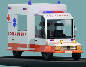 3D model Ambulance Cartoon low-poly