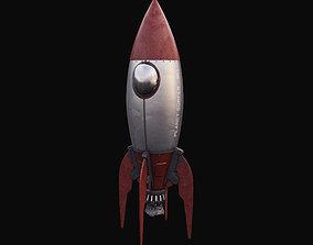 3D model 50s Stylized Vintage Spaceship stylized