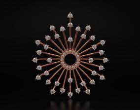 Stylish pendant fireworks 595 3D printable model