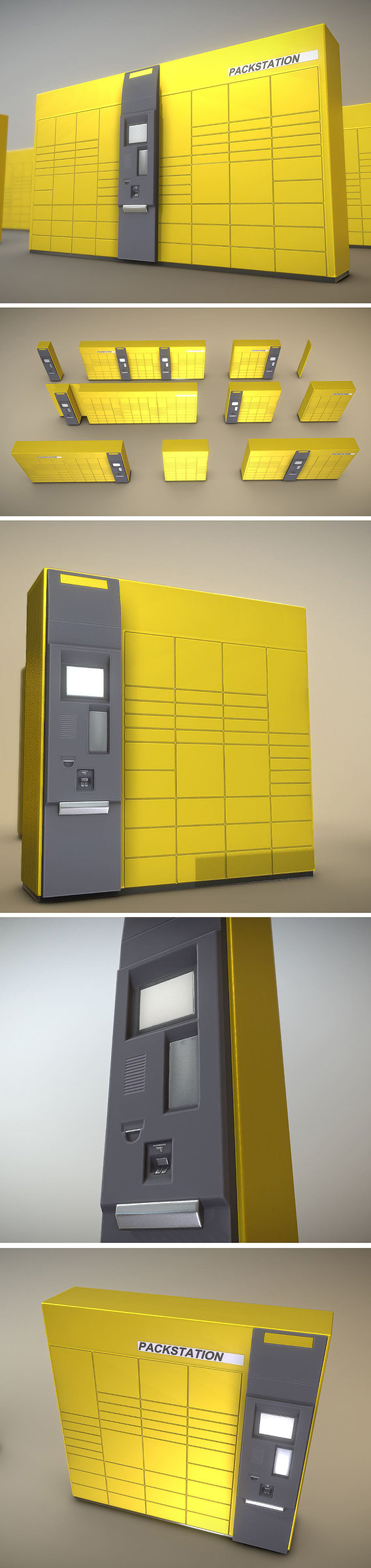 Pack-Station Low-Poly Package